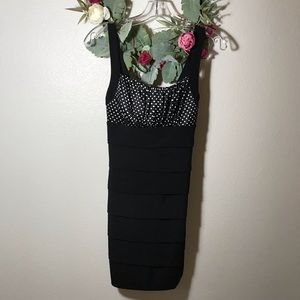 Sweet Storm Fitted Black Dress